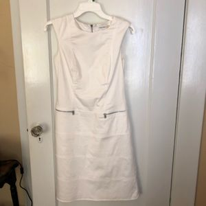 Calvin Klein White Sheath Dress w/ Pockets Sz 2